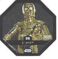 JETON LECLERC STAR WARS   N° 06  C-3P0  (brillante) - Power Of The Force