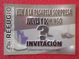 ANTIGUA TARJETA DE VISITA VISIT CARD PUBLICIDAD PUBLICITARIA INVITACIÓN O SIMILAR DISCO REFUGIO MADRID ?? DOCTOR CORTEZO - Tarjetas De Visita