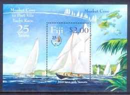 E67- Fiji 2004 Sailing Joint Issue With Vanuatu. 25 Years Of Musket Cove To Port Vila Yacht Race. - Fiji (1970-...)