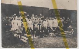 GARE CHEMIN DE FER MUNITIONS ARTILLERIE CONFLANS EN JARNIZY (a Identifier) CARTE PHOTO ALLEMANDE MILITARIA 1914/1918 WK1 - Guerre 1914-18