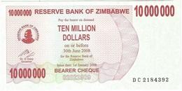 Zimbabwe 10.000.000 Dollars 01-01-2008 Pick 55.b UNC - Zimbabwe