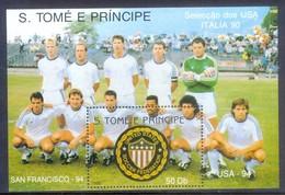 E73- Sao Tome E Principe 1990 World Cup Football Soccer Championship Italy. - Soccer