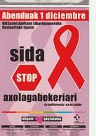 SIDA STOP - Ehgam Gaytasima - Abenduak 1 Diciembre - Postal Publicitaria - Salud
