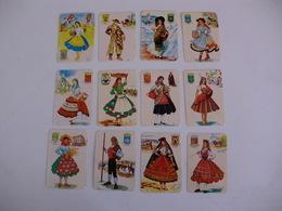 Costumes Trajes Tipicos Portugal Portuguese Complete Set Of 12 Pocket Calendars 1984 - Tamaño Pequeño : 1981-90