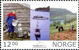 Norvège Norge Norway 1633 Agriculture, Charrue, Cheval, Lait, Poisson - Food