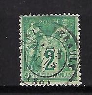 "FR YT 74 "" Sage Type II  2c. Vert "" 1876-78 CAD Chatellerault - 1876-1898 Sage (Type II)"