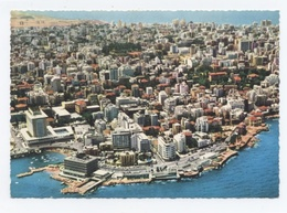 LIBAN,LEBANON,BEIRUT,BEYROUTH,vue Aerienne -TBE -RECTO/VERSO- B6 - Lebanon