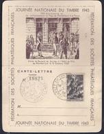Carte Lettre Locale Journee Du Timbre 1943 Dunkerque Montbeliard - France