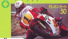 Télécarte Japon * FRONT BAR 110-6995 * MOTOR  * (1877)  Phonecard Japan * TELEFONKARTE * MOTORBIKE * MOTOR RACE * YAMAHA - Motos