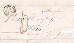 Lettre Carcassonne Aude 1841 Flers Orne - Marcofilie (Brieven)