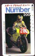 Télécarte Japon * MOTOR  * (1886)  Phonecard Japan * TELEFONKARTE * MOTORBIKE * MOTOR RACE * - Motos