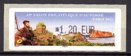 Vignette LISA  // 69e Salon D'automne  // Paris 2015 - 2010-... Viñetas De Franqueo Illustradas