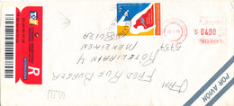 Argentina Registered Air Mail Cover With Meter Cancel And Stamp Sent To Switzerland Villa Angela 25-1-1996 Topic Stamp - Airmail