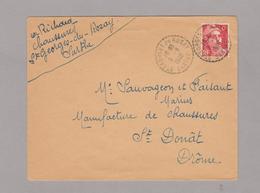 LSC 1948 - Cachet Perlé ST GEORGES Du ROSAY (Sarthe) - Manual Postmarks