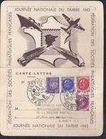 Carte Lettre Federale Journee Du Timbre 1943 Petain Paris - France