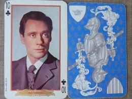 10 TREFLE MEL FERRER Série ACTEURS ANNEES 60 PHOTO SAM LEVIN - Cartes à Jouer Classiques