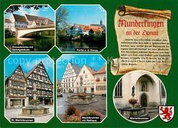 73208984 Munderkingen Donaubruecke Spitalgebaeude Donaupartie St Martinbrunnen M - Deutschland