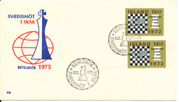 Iceland Cover With Special CHESS Cancel And Cachet Reykjavik 19-10-1975 - Chess