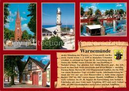 73210041 Warnemuende_Ostseebad Leuchtturm Alter Strom Kirche Warnemuende_Ostseeb - Rostock