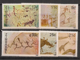 Zimbabwe - 1982 - N°Yv. 33 à 38 - Peintures Rupestres - Neuf Luxe ** / MNH / Postfrisch - Zimbabwe (1980-...)