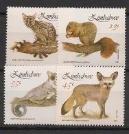 Zimbabwe - 1991 - N°Yv. 224 à 227 - Mammifères / Faune - Neuf Luxe ** / MNH / Postfrisch - Zimbabwe (1980-...)