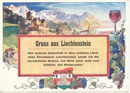 Liechtenstein Postcard Grüss Aus Liechtenstein Sent To Germany DDR 29-7-1957 - Liechtenstein