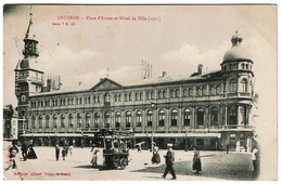 Ostende - Place D'Armes Et Hôtel De Ville - 1904 - Edit. A. Sugg 7/10 - 2 Scans - Oostende