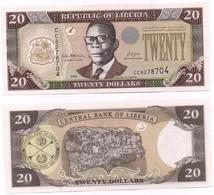 Liberia - 20 Dollars 2008 AUNC W/holes Ukr-OP - Liberia