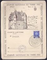 Carte Lettre Locale  Journee Du Timbre 1943 Petain Annecy - France