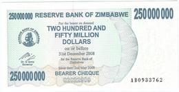 Zimbabwe 250.000.000 Dollars 02-05-2008 Pick 59 UNC - Zimbabwe