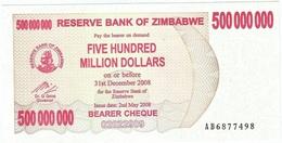 Zimbabwe 500.000.000 Dollars 02-05-2008 Pick 60 UNC - Zimbabwe