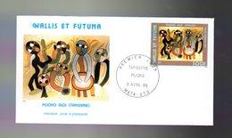 """Sous La Faciale (500 XPF = 4.19 €) """" TAPISSERIE PILIOKO ALOI """" Sur Enveloppe 1er Jour 1985. N°YT PA 143. TB état FDC - FDC"""