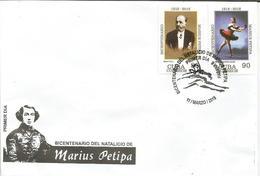 Cuba 2018 Bicentenary Of Marius Petipa, Ballet Dancer Alicia Alonso In Don Quijote 2v FDC - Briefe U. Dokumente
