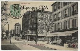 75 - TOUT PARIS 12 - #706 - Avenue De Saint-Mandé à L'angle De La Rue Michel-Bizot ++++ Coll. F. FLEURY ++++ 1907 - Arrondissement: 12