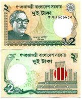 BANGLADESH 2 TAKA 2007 UNCIRCULATED NON CIRCULE BILLET NOTE BANK - Bangladesh