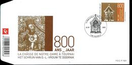 FDC P. 1521  Du N° 3425    800 Ans  Châsse ND à Tournai  Obl. Tournai  10/09/2005 - FDC