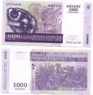 Madagascar - 1000 Ariary 2007 ( 2004 ) Pick 89b UNC Ukr-OP - Madagascar