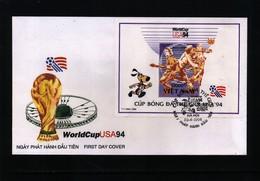 Vietnam 1994 World Football Championship In USA Block FDC - World Cup