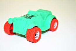 Vintage VINYL TOY CAR : Maker VIKINGPLAST SWEDEN - Roadster 9.00cm - 19XX - Rubber - Other