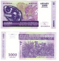 Madagascar - 1000 Ariary 2016 ( 2004 ) UNC Ukr-OP - Madagascar