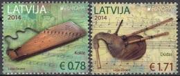 Latvija 2014 Yvert 879 - 880 Neuf ** Cote (2015) 6.90 Euro Europa CEPT Instruments De Musique - Lettonie