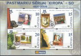 Latvija 2006 Michel Bloc Feuillet 21 Neuf ** Cote (2013) 2.40 Euro 50 Ans Europa CEPT Timbres Sur Timbres - Lettonie
