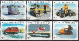 Ross Depency 2000 Michel 66 - 71 Neuf ** Cote (2005) 9.60 Euro Transports Polaires - Neufs