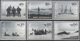 Ross Depency 2002 Michel 78 - 83 Neuf ** Cote (2005) 8.50 Euro 100 Ans Expedition De Robert Scott - Dépendance De Ross (Nouvelle Zélande)