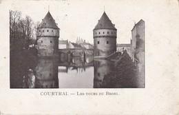 AK Courtrai  Kortrijk - Les Tours Du Broel - Feldpost 1915  (34360) - Kortrijk