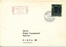 Liechtenstein Cover Sent To Switzerland Nendeln 1-11-1960 Single Franked - Liechtenstein