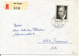 Liechtenstein Registered Cover Ruggell 13-7-1972 Sent To Switzerland Single Franked - Liechtenstein