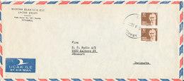 Turkey Air Mail Cover Sent To Denmark 10-2-1981 - 1921-... Republic
