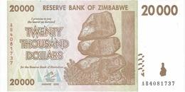 Zimbabwe 20.000 Dollars 2008 Pick 73.a UNC - Zimbabwe