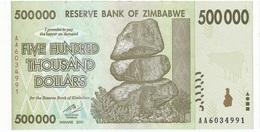Zimbabwe 500.000 Dollars 2008 Pick 76.b UNC - Zimbabwe